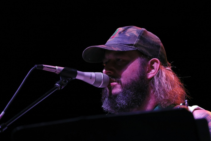 Justin Vernon at the Water Is Life concert in Duluth
