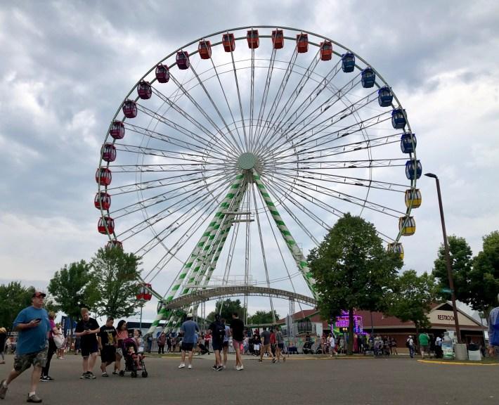 The Ferris wheel at the 2021 state fair