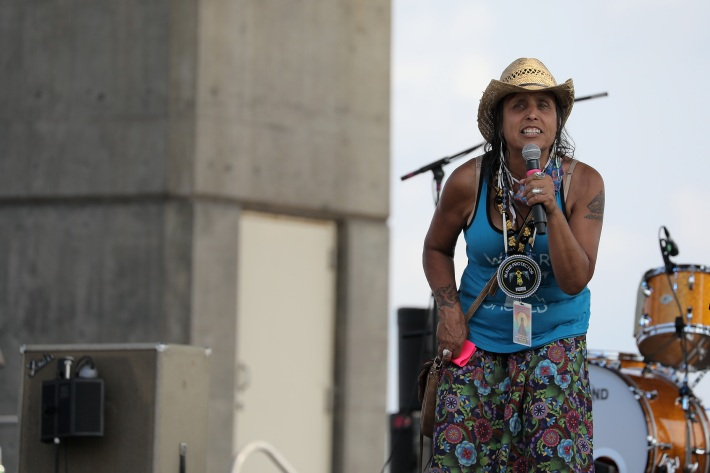 Winona LaDuke at the Water Is Life concert in Duluth