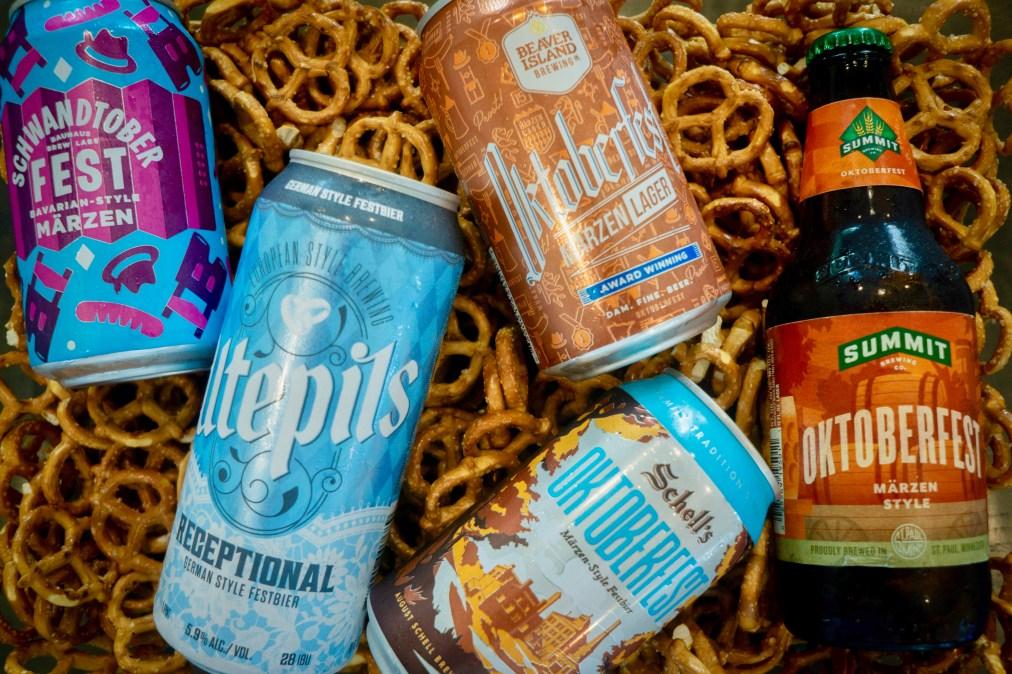 From left: Bauhaus Brew Labs Schwandtoberfest, Utepils Receptional, Schell's Oktoberfest, Beaver Island Oktoberfest, Summit Oktoberfest